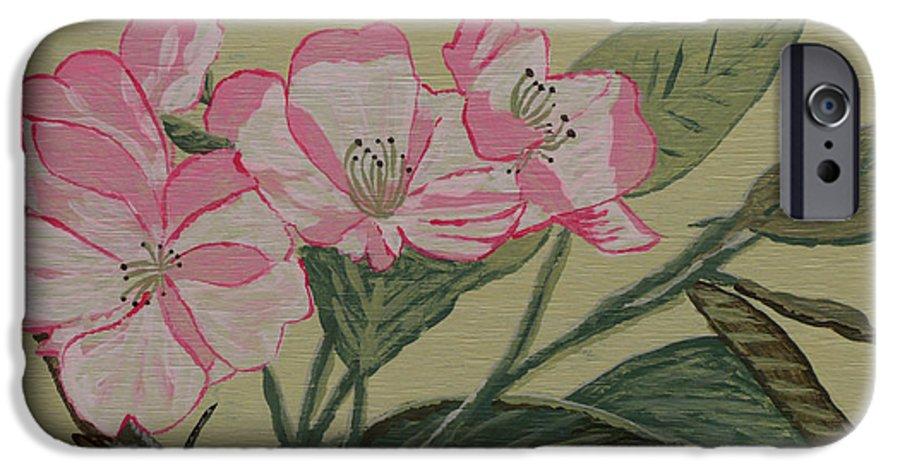Yamazakura IPhone 6 Case featuring the painting Yamazakura Or Cherry Blossom by Anthony Dunphy