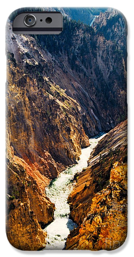Yellowstone IPhone 6 Case featuring the photograph Yellowstone River by Kathy McClure