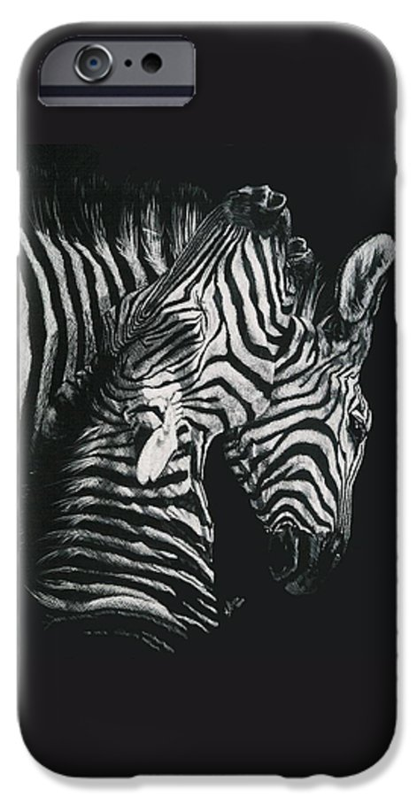 Art IPhone 6 Case featuring the drawing Youngbloods by Barbara Keith