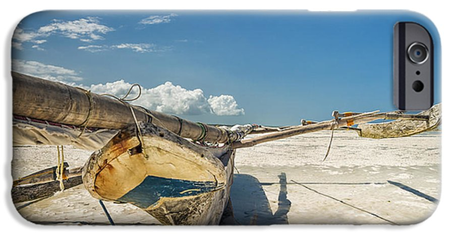 3scape IPhone 6 Case featuring the photograph Zanzibar Outrigger by Adam Romanowicz