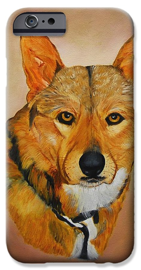 Animals IPhone 6 Case featuring the painting Zavious by Quwatha Valentine