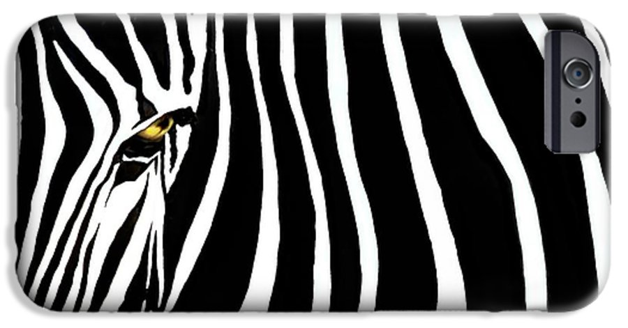 Zebra IPhone 6 Case featuring the photograph Zebressence by Dan Holm