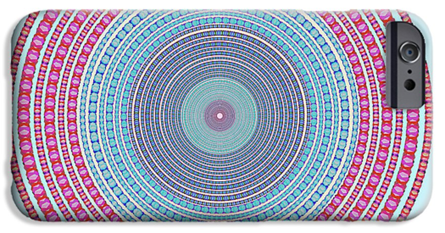 Abstract IPhone 6 Case featuring the digital art Vintage Color Circle by Atiketta Sangasaeng