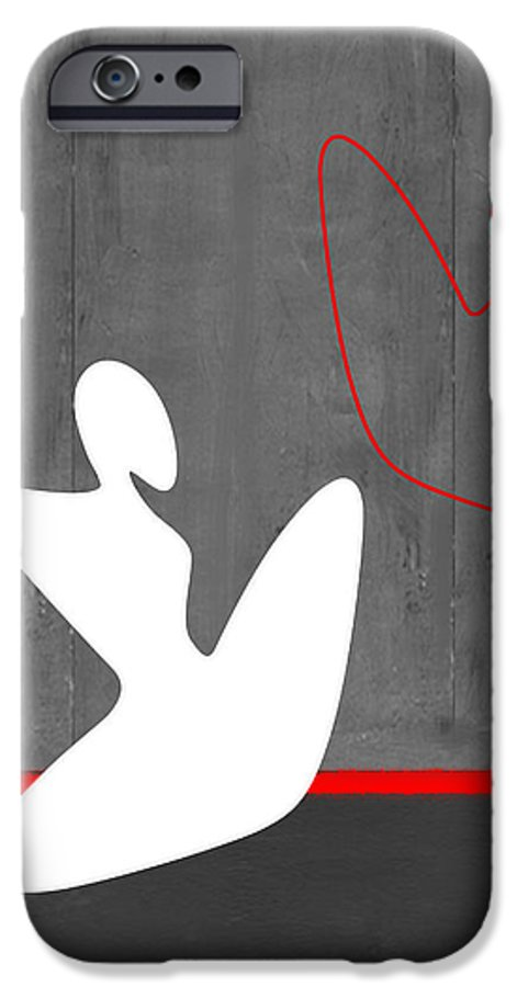 Abstract IPhone 6 Case featuring the painting White Girl by Naxart Studio