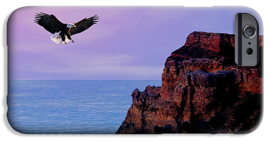 Eagle IPhone 6 Case featuring the digital art I'm Free To Fly by Evelyn Patrick