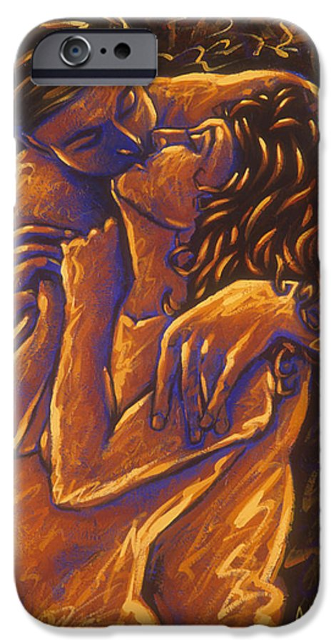 Acrylic IPhone 6 Case featuring the painting Los Amantes The Lovers by Arturo Vilmenay