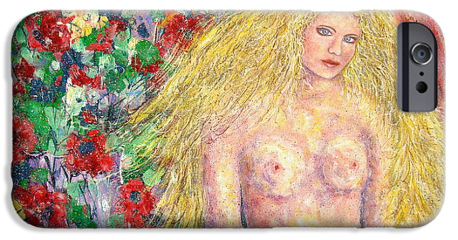 Nude IPhone 6 Case featuring the painting Nude Fantasy by Natalie Holland