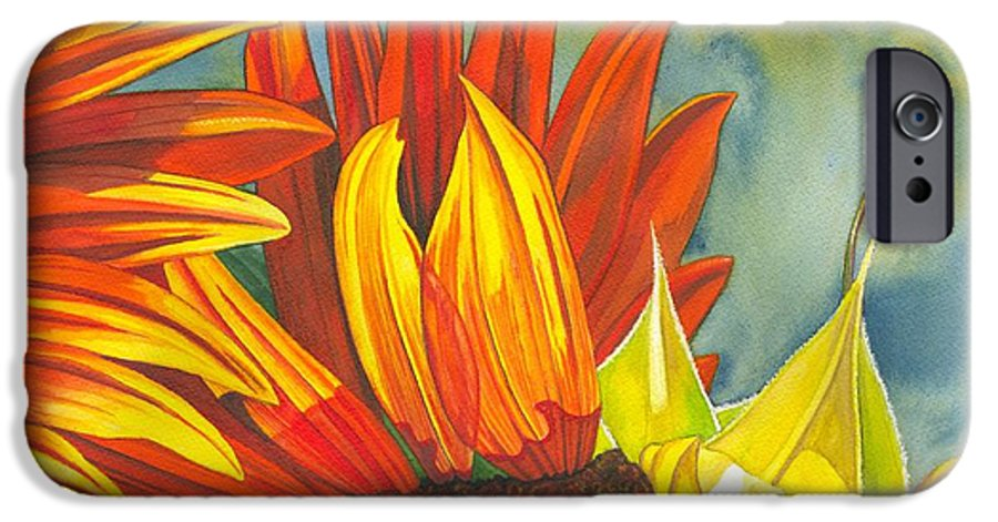 Sunflower IPhone 6 Case featuring the painting Ray by Catherine G McElroy