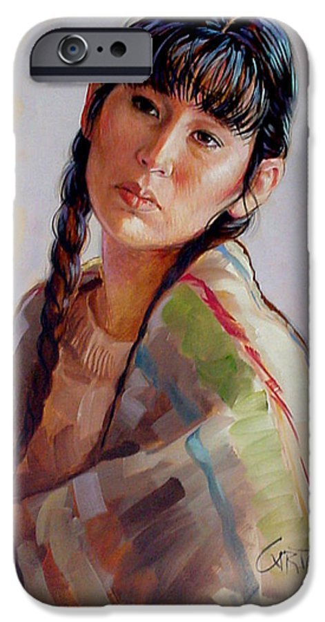 Sacajawea IPhone 6 Case featuring the painting Sacajawea  Study by Jerrold Carton