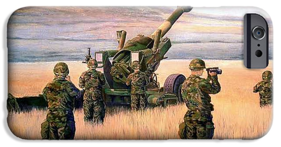 Signed And Numbered Prints Of The Montana National Guard IPhone 6 Case featuring the print 1-190th Artillery by Scott Robertson
