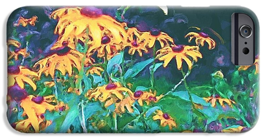 Mixed Media IPhone 6 Case featuring the painting A Lily In The Field by Patricia Griffin Brett