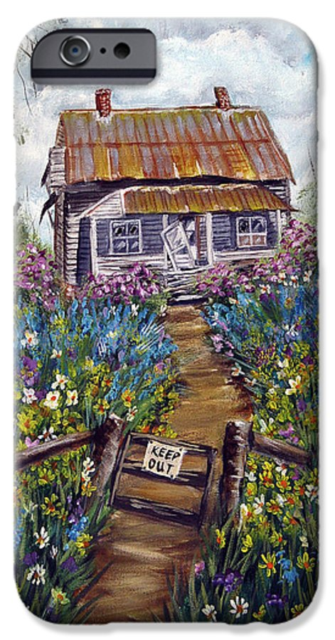 House IPhone 6 Case featuring the painting Abandoned House by Quwatha Valentine