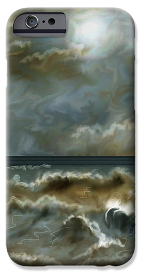 Seascape IPhone 6 Case featuring the painting After The Squall by Anne Norskog