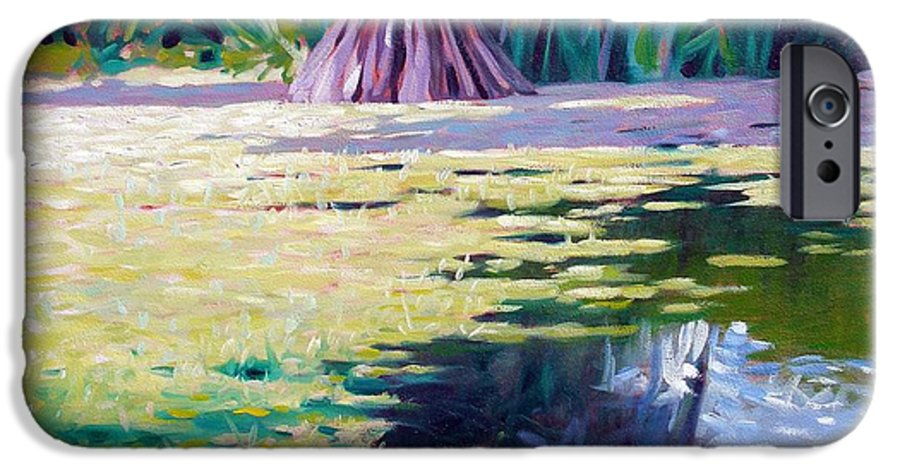 Water IPhone 6 Case featuring the painting Algae by Kevin Lawrence Leveque