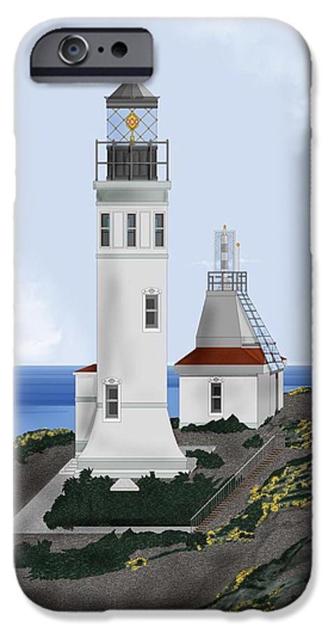 Lighthouse IPhone 6 Case featuring the painting Anacapa Lighthouse California by Anne Norskog