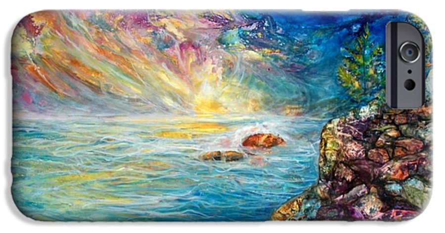 Seascape IPhone 6 Case featuring the painting Ascension by Mary Sonya Conti