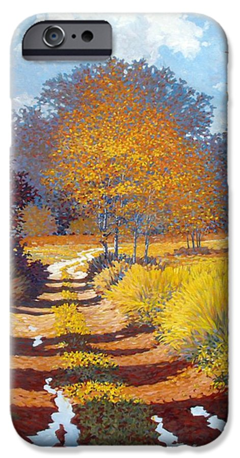 Landscape IPhone 6 Case featuring the painting Autumn by Kevin Lawrence Leveque