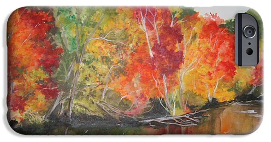 Autumn IPhone 6 Case featuring the painting Autumn Splendor by Jean Blackmer