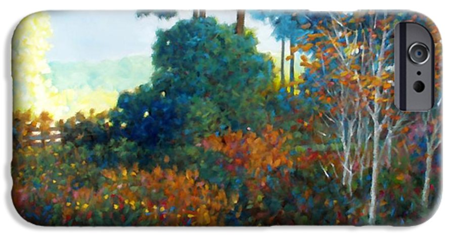 Landscape IPhone 6 Case featuring the painting Back Gate by Kevin Lawrence Leveque