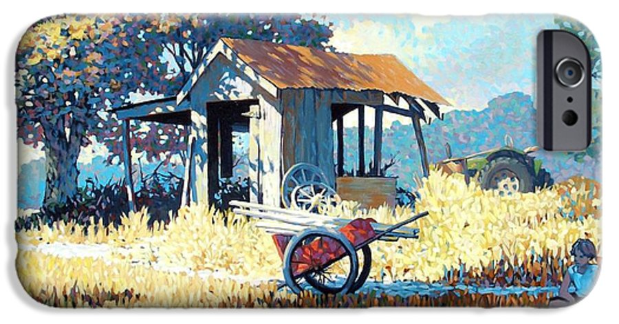 Cart IPhone 6 Case featuring the painting Breaktime by Kevin Lawrence Leveque