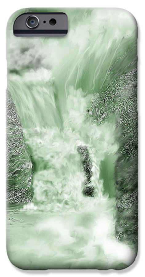 White Water IPhone 6 Case featuring the painting Cherry Creek Lower Run by Anne Norskog