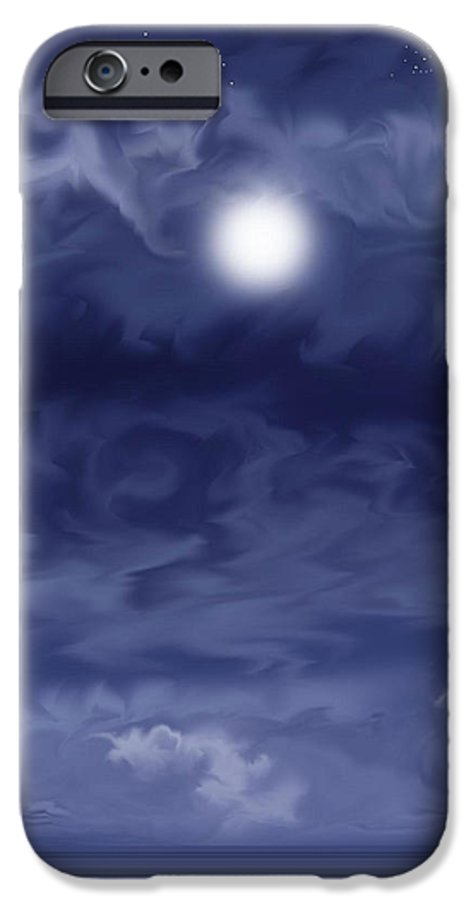Moon IPhone 6 Case featuring the painting Cobalt by Anne Norskog