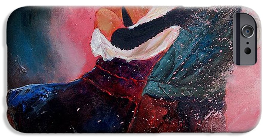 Music IPhone 6 Case featuring the painting Dancing Tango by Pol Ledent