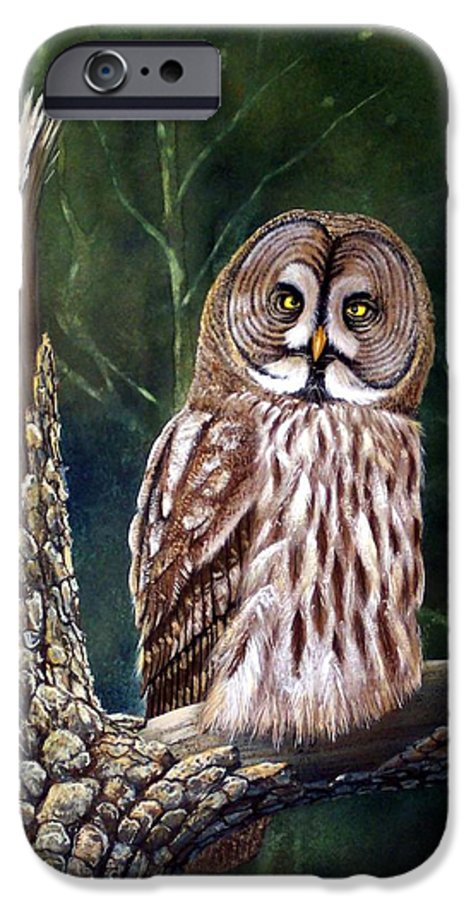 Wildlife IPhone 6 Case featuring the painting Deep In The Woods by Frank Wilson