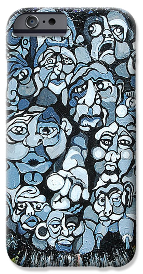 Surreal IPhone 6 Case featuring the painting Elevator by Julie Fischer