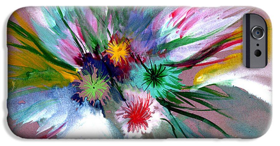 Flowers IPhone 6 Case featuring the painting Flowers by Anil Nene
