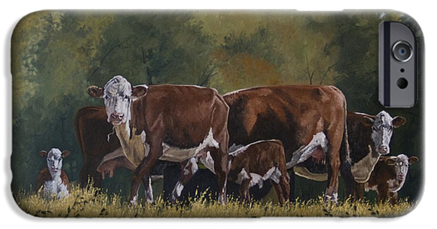Landscape IPhone 6 Case featuring the painting Generations by Peter Muzyka