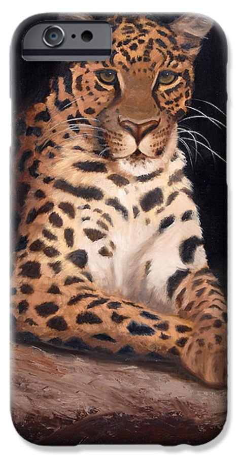 Wildlife IPhone 6 Case featuring the painting Intrigued by Greg Neal