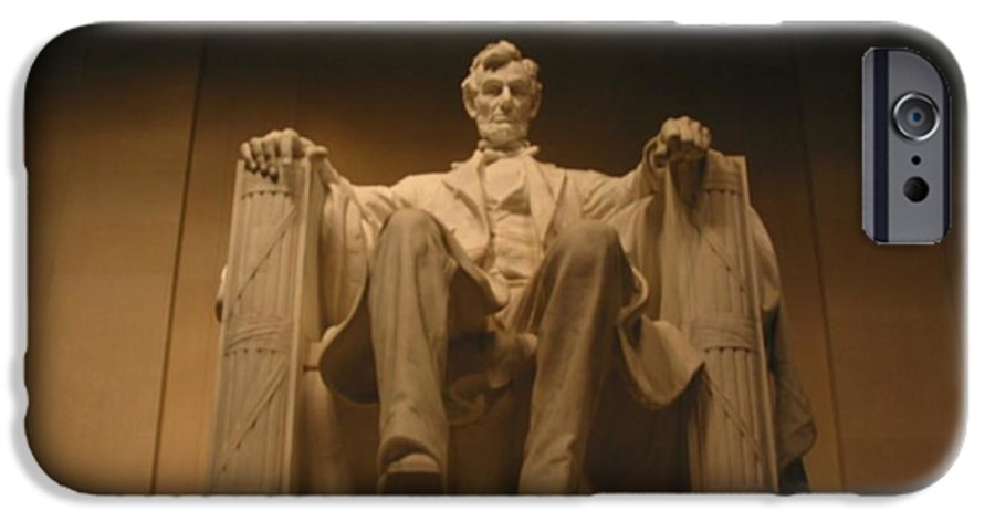 Abraham Lincoln IPhone 6 Case featuring the painting Lincoln Memorial by Brian McDunn