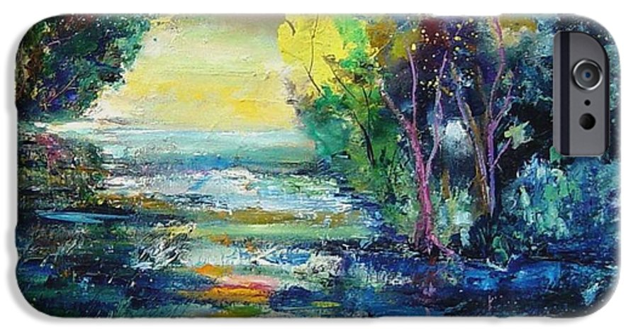 Pond IPhone 6 Case featuring the painting Magic Pond by Pol Ledent