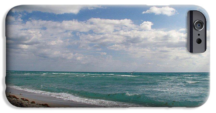 Miami Beach IPhone 6 Case featuring the photograph Miami Beach by Amanda Barcon