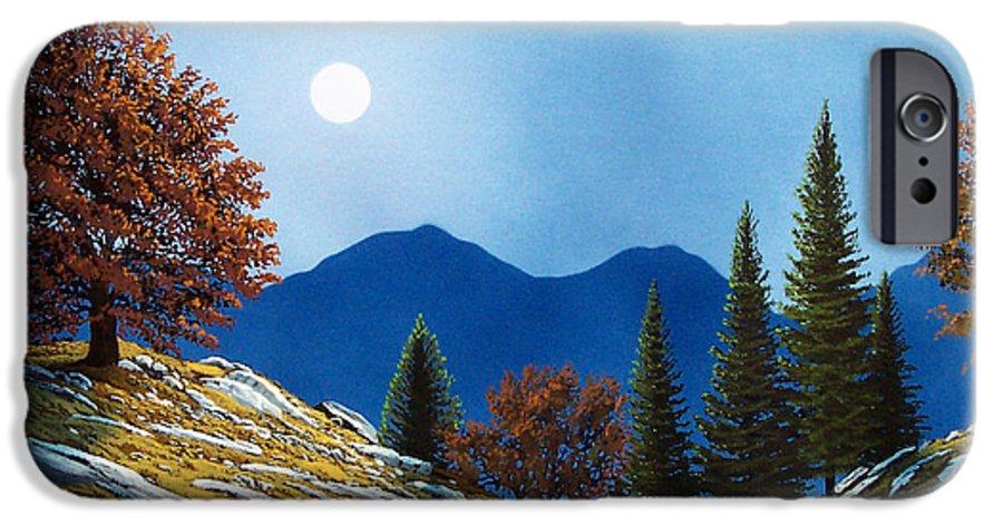 Landscape IPhone 6 Case featuring the painting Mountain Moonrise by Frank Wilson