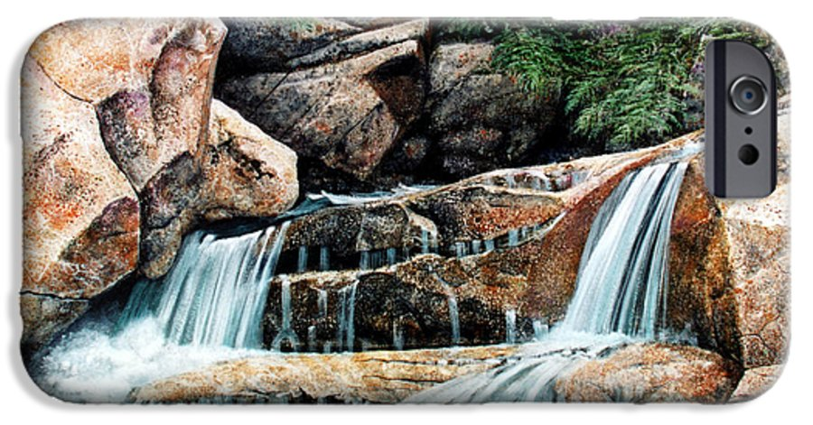 Landscape IPhone 6 Case featuring the painting Mountain Stream by Frank Wilson