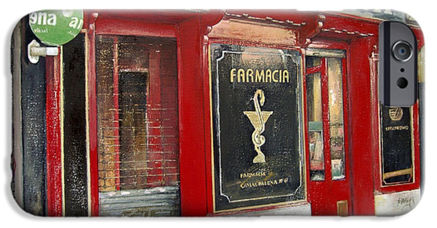 Farmacia IPhone 6 Case featuring the painting Old Pharmacy by Tomas Castano