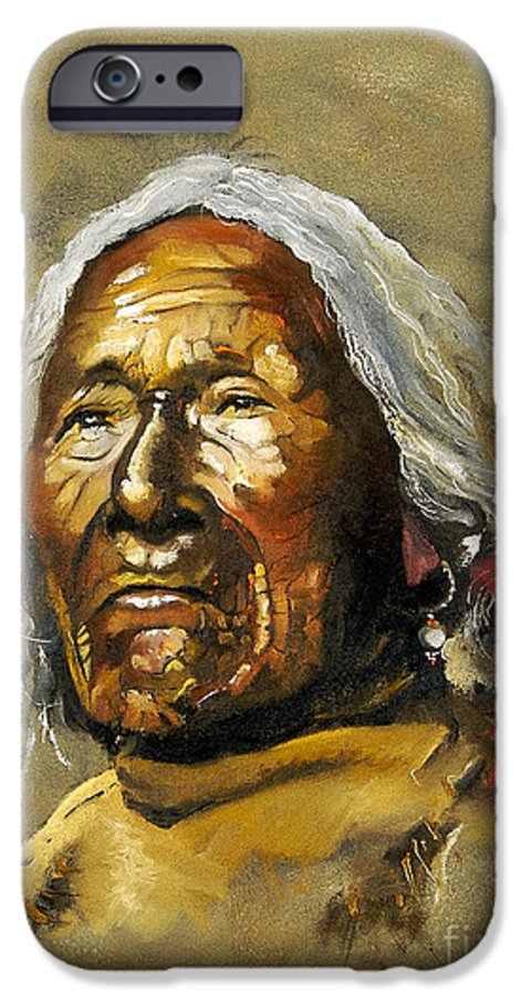 Southwest Art IPhone 6 Case featuring the painting Painted Sands Of Time by J W Baker