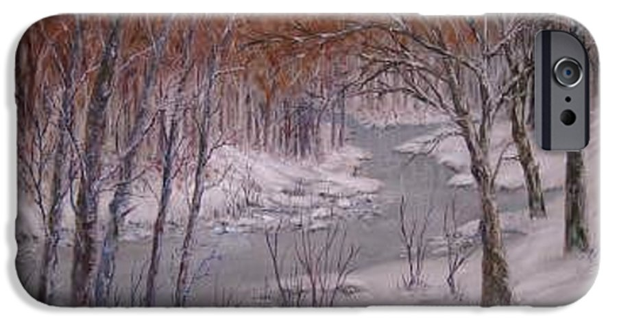 Snow; Landscape IPhone 6 Case featuring the painting Peace And Quiet by Ben Kiger