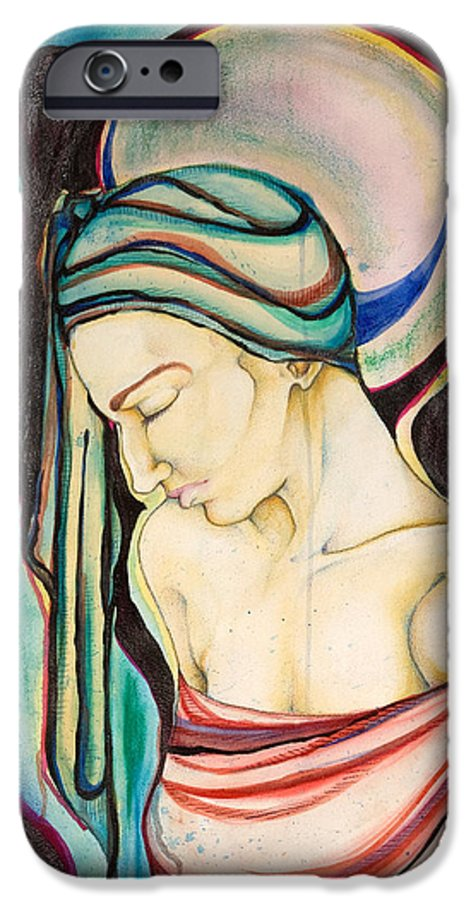 Peace IPhone 6 Case featuring the painting Peace Beneath The City by Sheridan Furrer