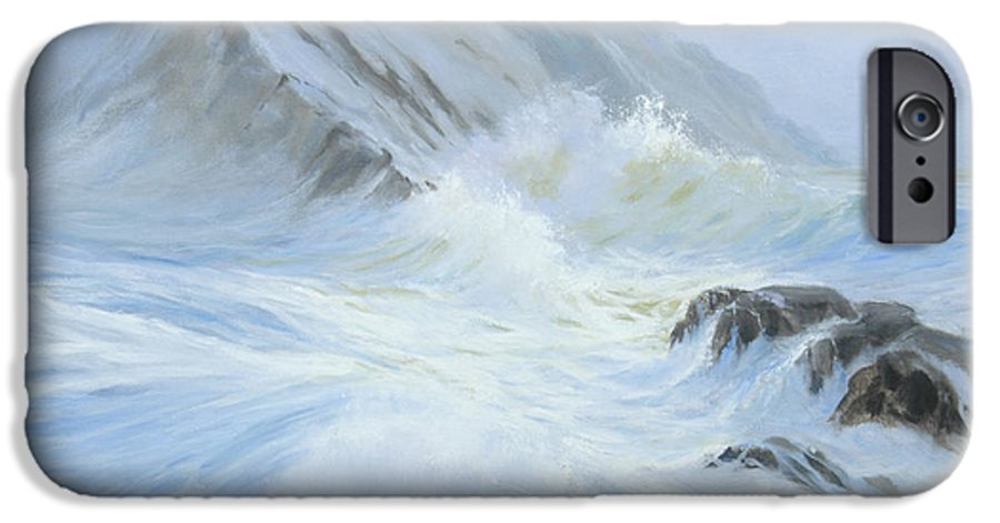Seascape IPhone 6 Case featuring the painting Quiet Moment II by Glenn Secrest