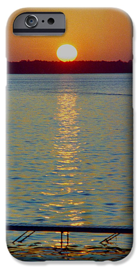 Sunset IPhone 6 Case featuring the photograph Quite Pier Sunset by Randy Oberg