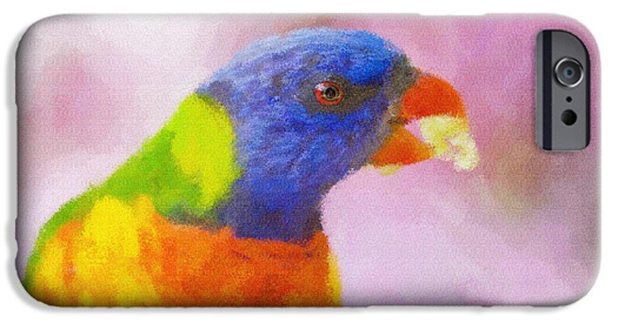 Rainbow Lorikeet IPhone 6 Case featuring the photograph Rainbow Lorikeet by Sheila Smart Fine Art Photography