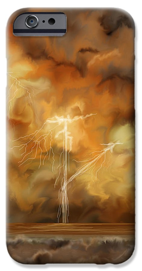 Anne Norskog IPhone 6 Case featuring the painting Raw Power by Anne Norskog