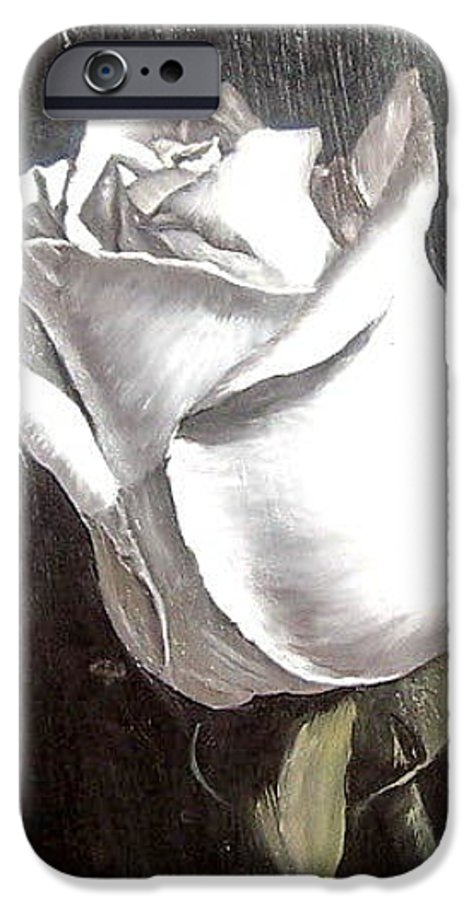 Flower Rose Still Life IPhone 6 Case featuring the painting Rose 2 by Natalia Tejera