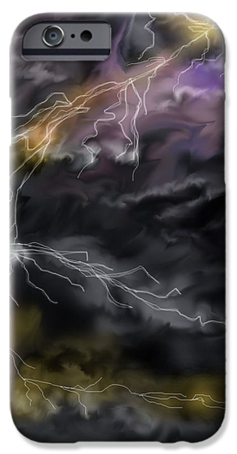 Seascape IPhone 6 Case featuring the painting Shock And Awe by Anne Norskog