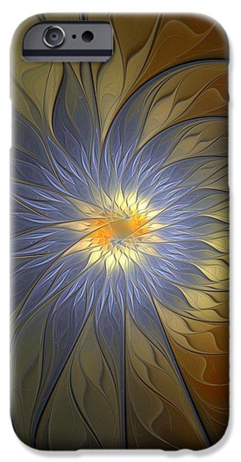 Digital Art IPhone 6 Case featuring the digital art Something Blue by Amanda Moore