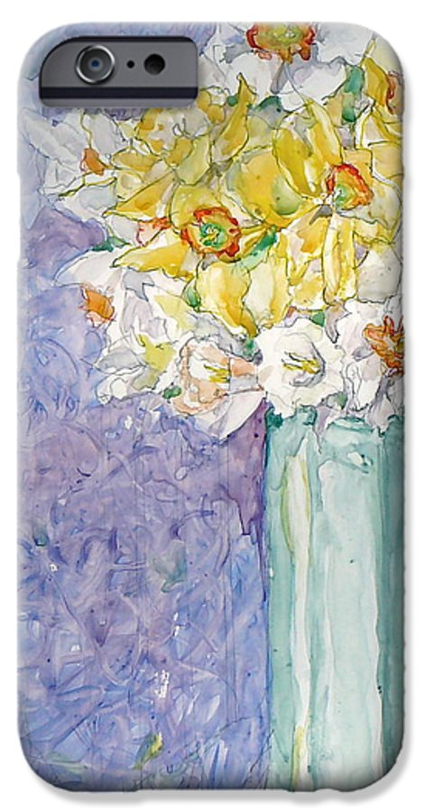Watercolor IPhone 6 Case featuring the painting Spring Blossoms by Jan Bennicoff