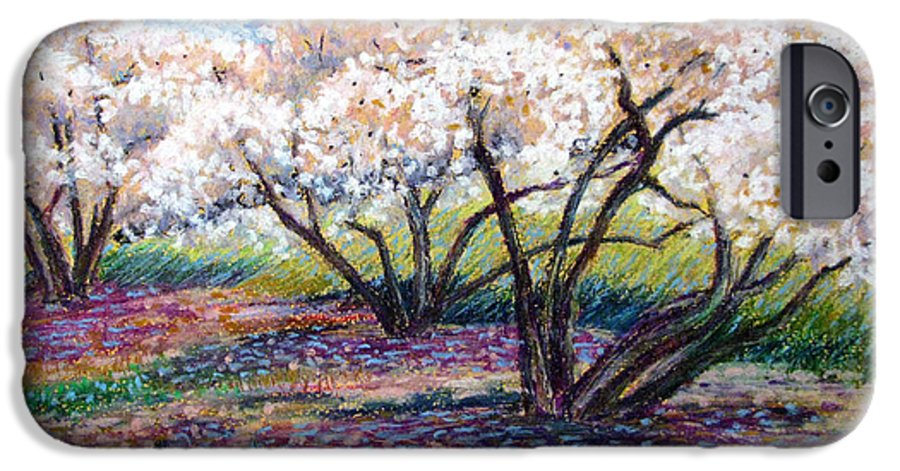 Oil Pastel IPhone 6 Case featuring the painting Spring Has Sprung by Art Nomad Sandra Hansen